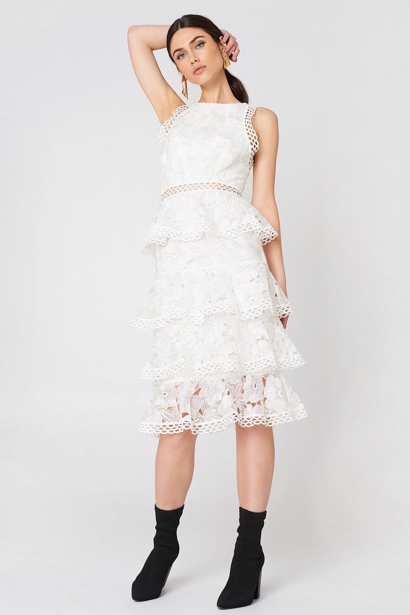 Ruffle Lace Dress NA-KD.COM