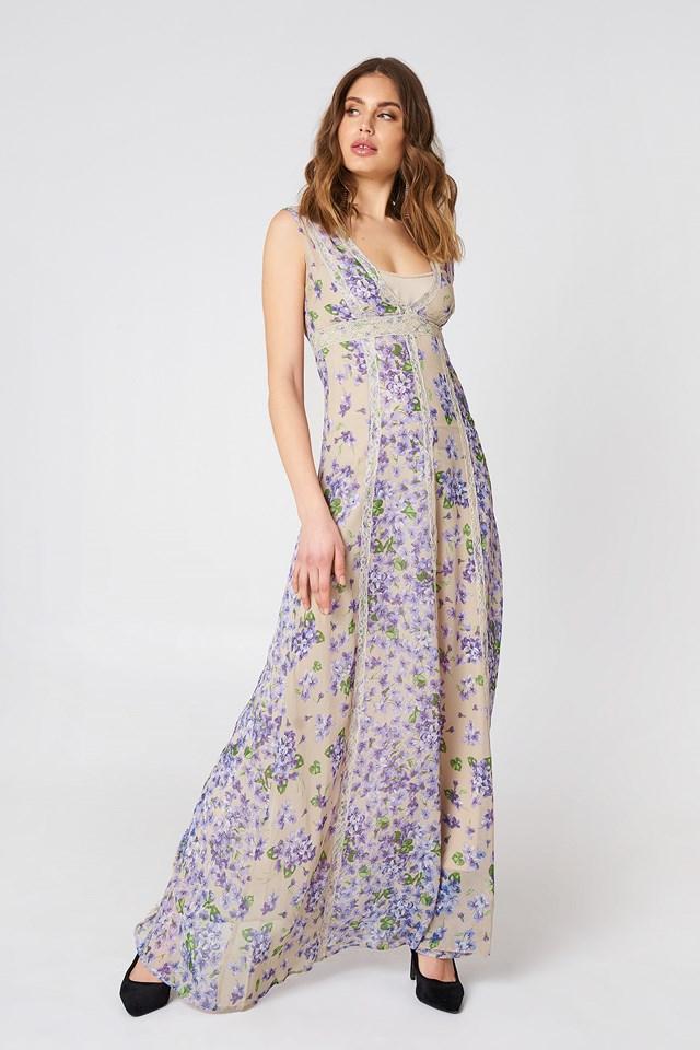Abito Lungo Maxi Dress St Mix Violette