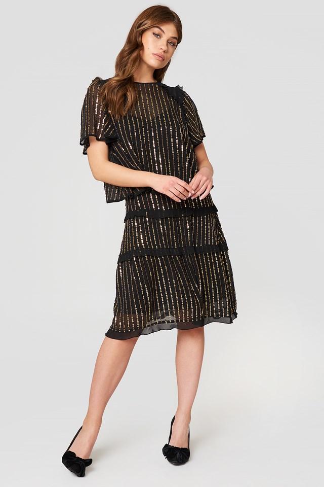 Sukienka mini Abito Nero Nero