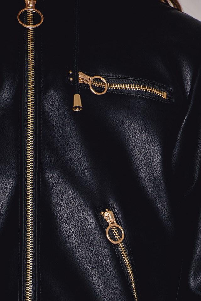 Giubbino Fake Leather Jacket NA-KD.COM