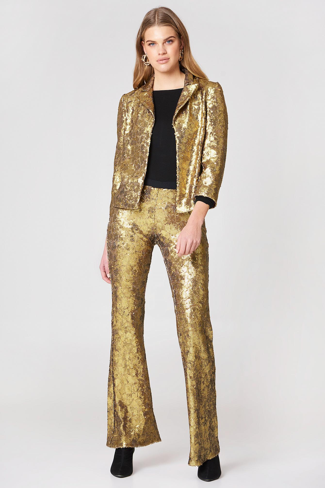 Spodnie Pantalone Oro Free NA-KD.COM