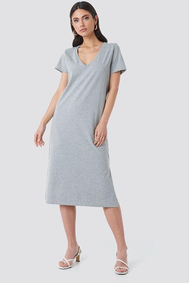 V-neck Jersey Dress NA-KD.COM
