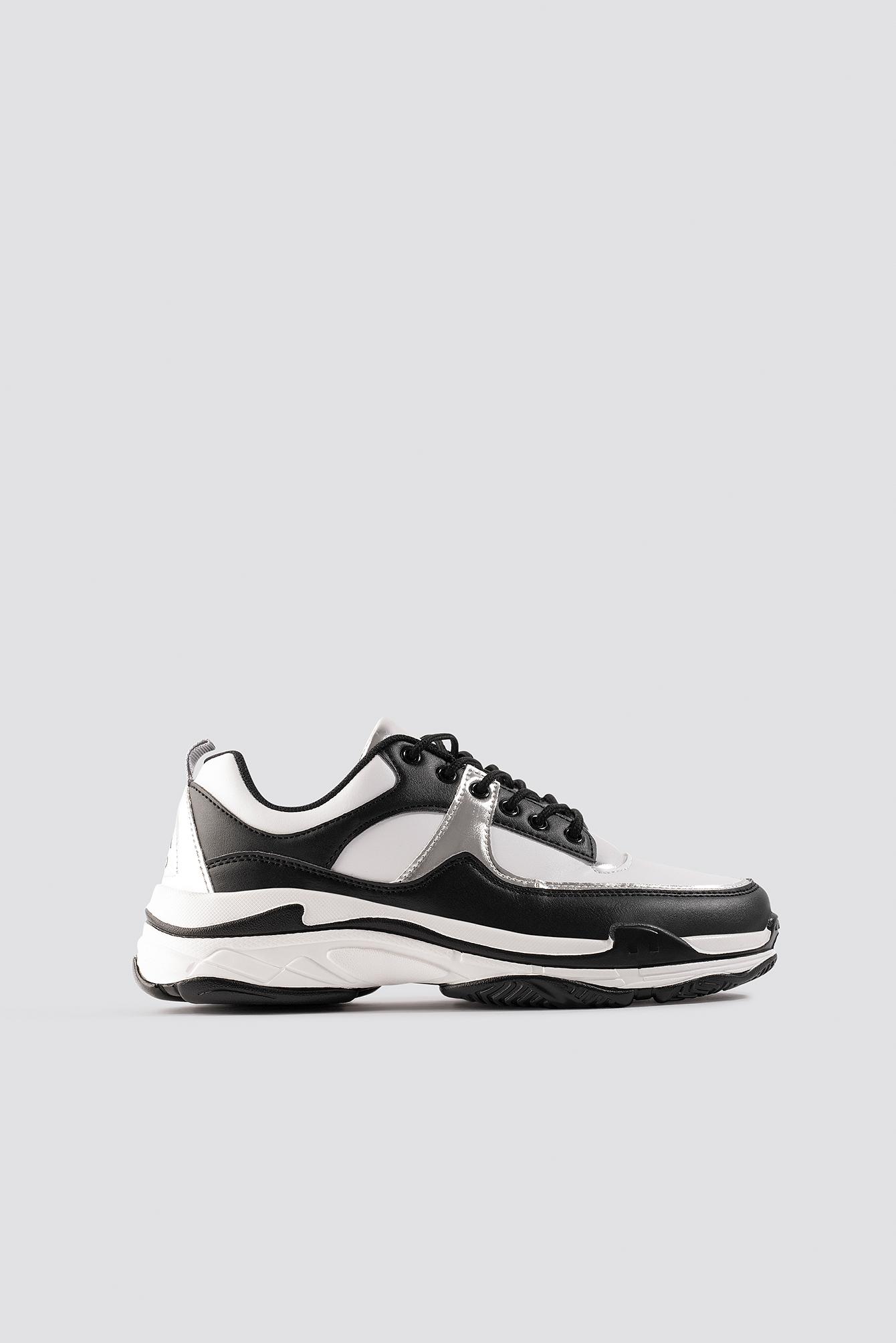 na-kd shoes -  Aero Sneaker - Black,White