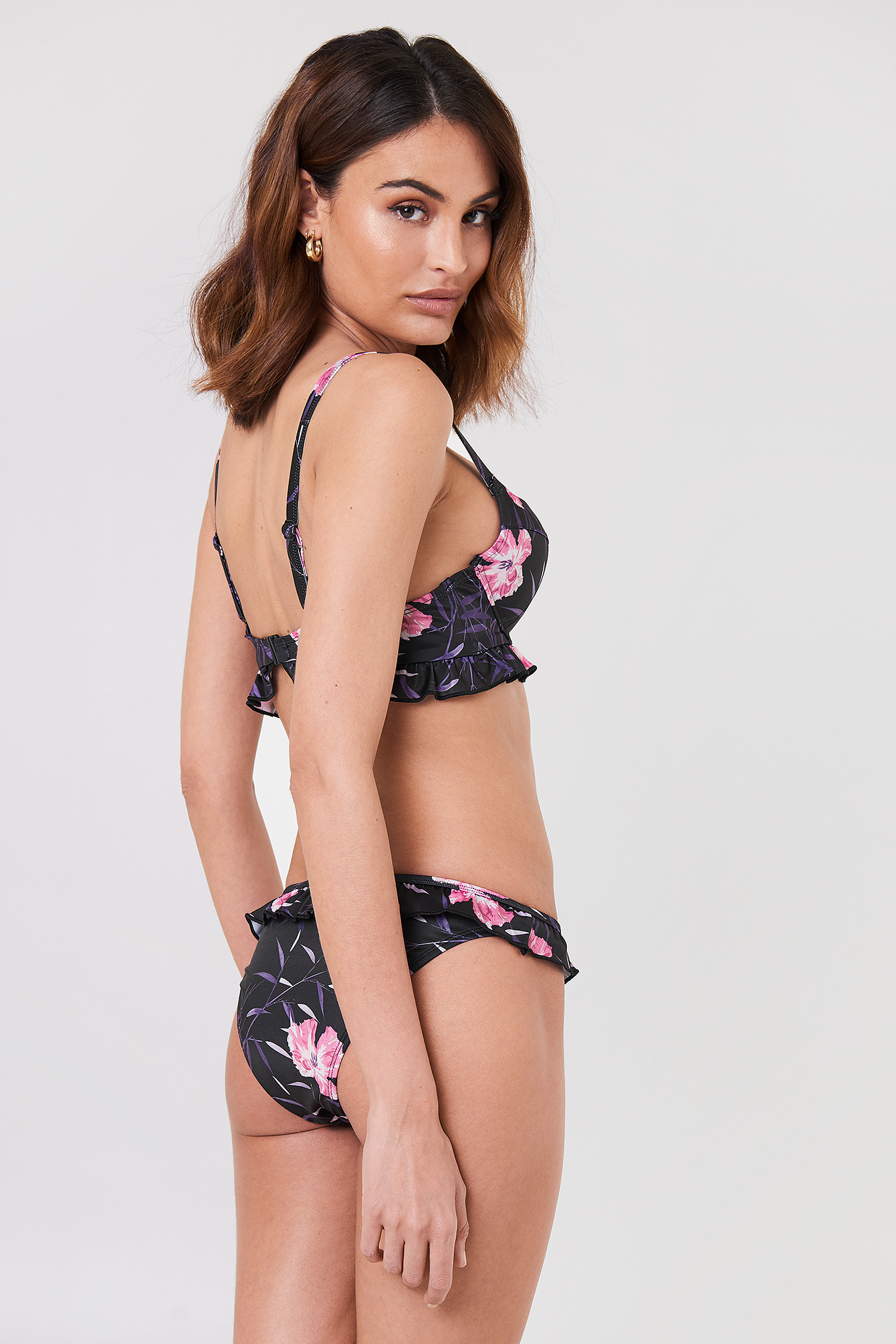 Floral Bamboo Push Up Bikini Top NA-KD.COM