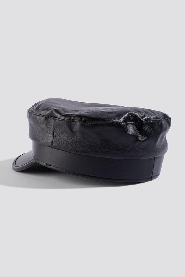 Leather Look Sailor Hat NA-KD.COM
