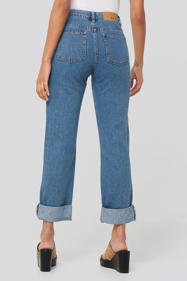 Alex Fold Up Jeans Light Blue Wash