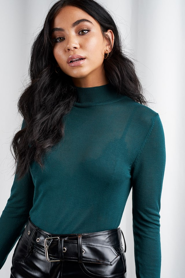Devon Knitted Pullover Deep Green