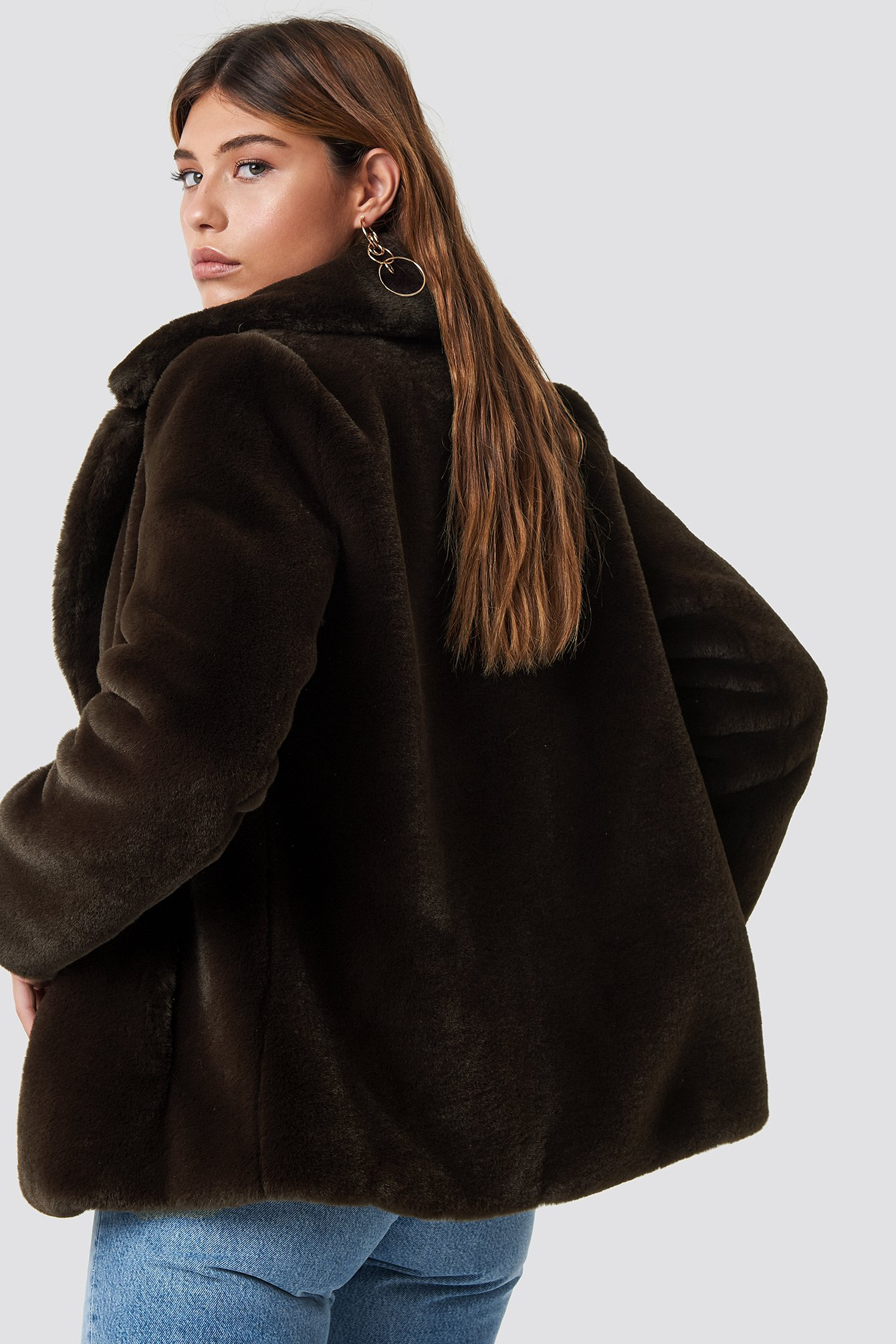 Jenna Faux Fur Coat NA-KD.COM