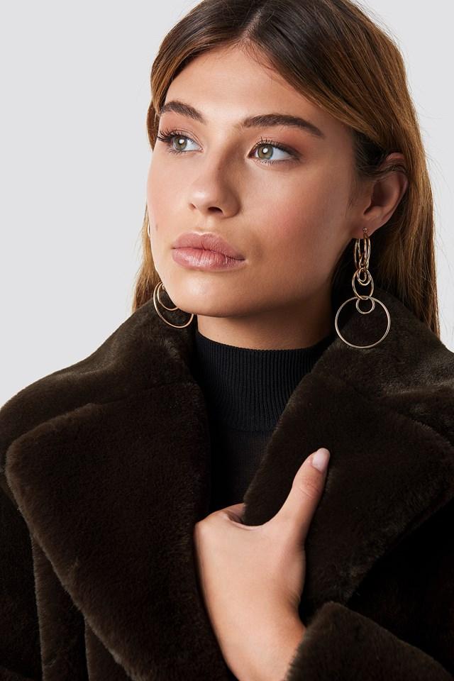 Jenna Faux Fur Coat Brown