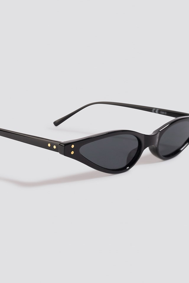Kate Slim Cat Eye Sunglasses Black