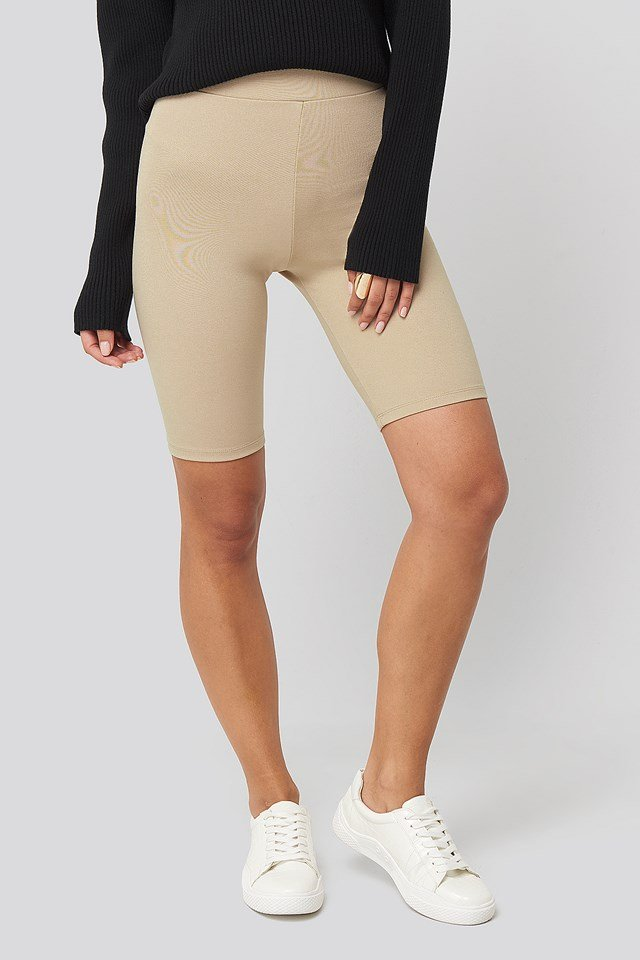 Kim Biker Shorts Light Beige