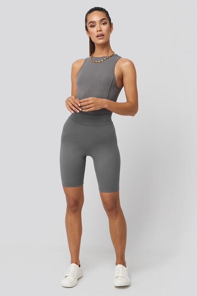 Kim Biker Shorts Charcoal
