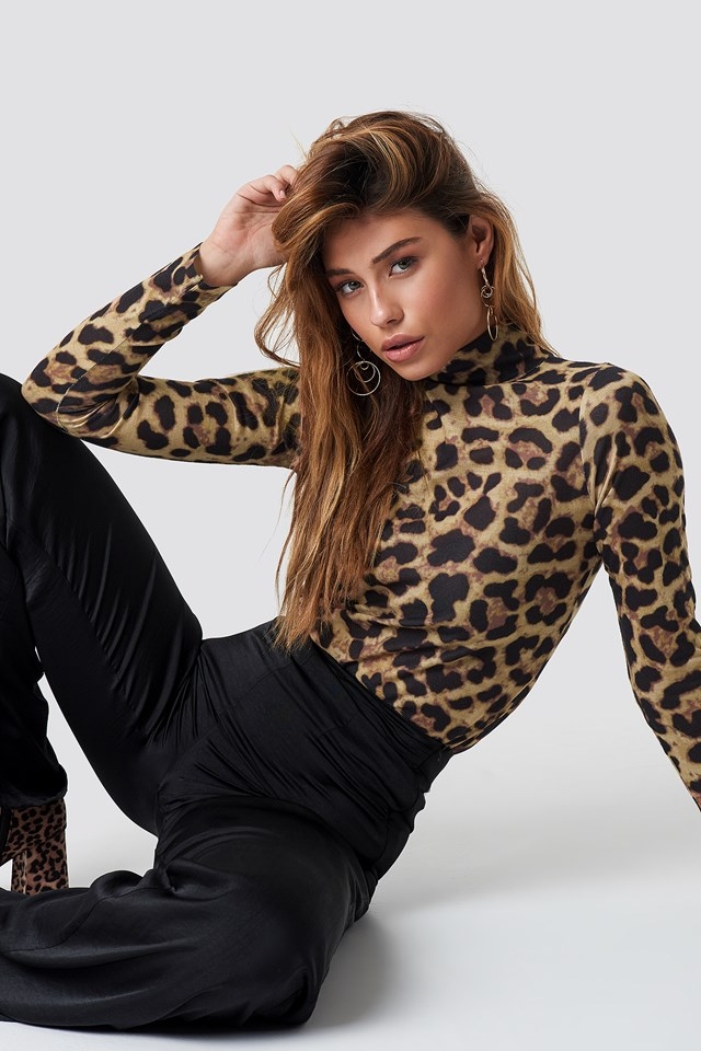 Liza Knitted Pullover Leopard