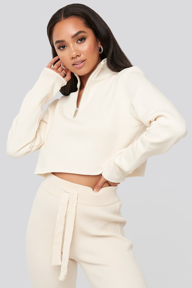 Mattie Crop Sweatshirt Ivory
