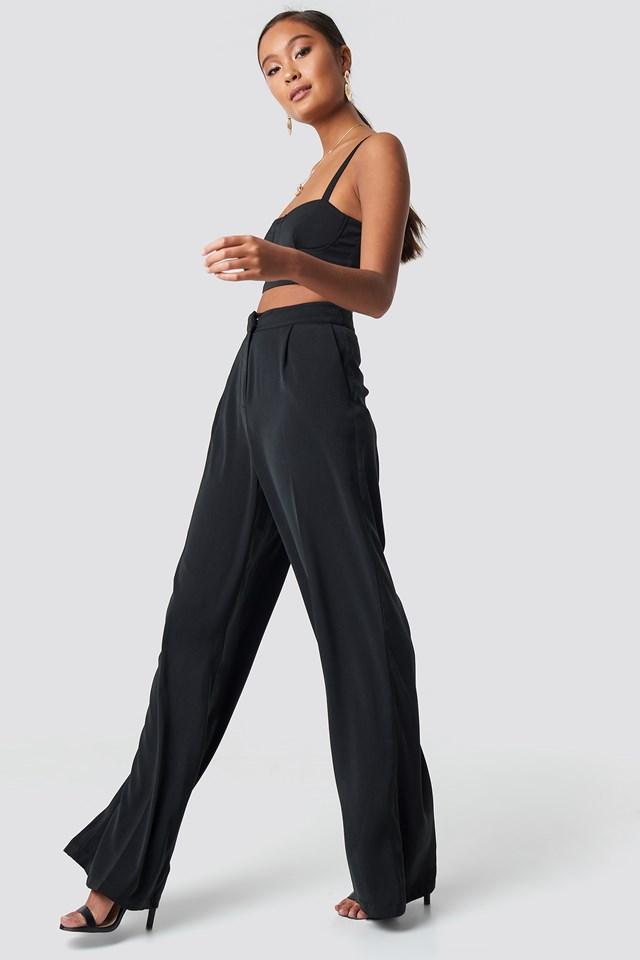 Ally Wide Pants Black