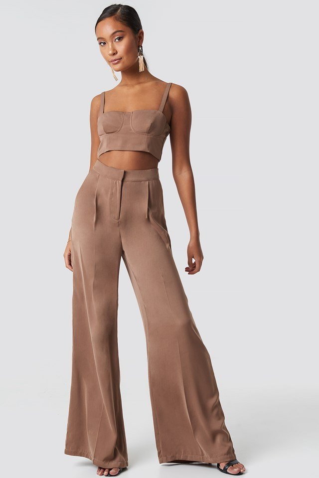 Ally Wide Pants Nougat