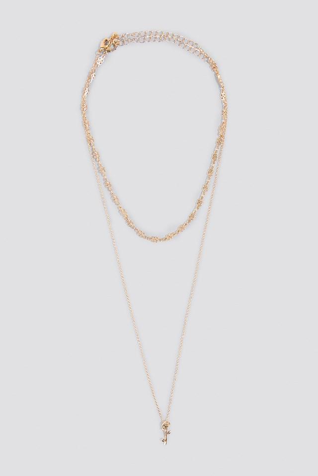 Pardis Rose Necklace Brass