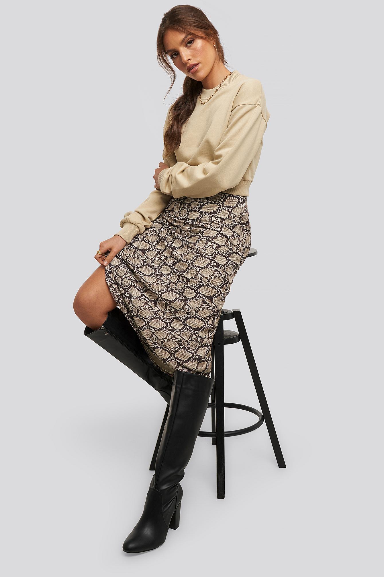 xle the label -  Snake Midi Skirt - Multicolor