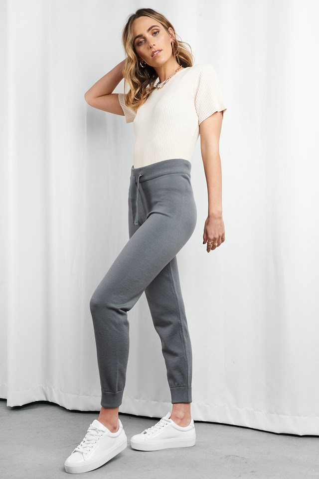 Ty Knitted Pants Grey