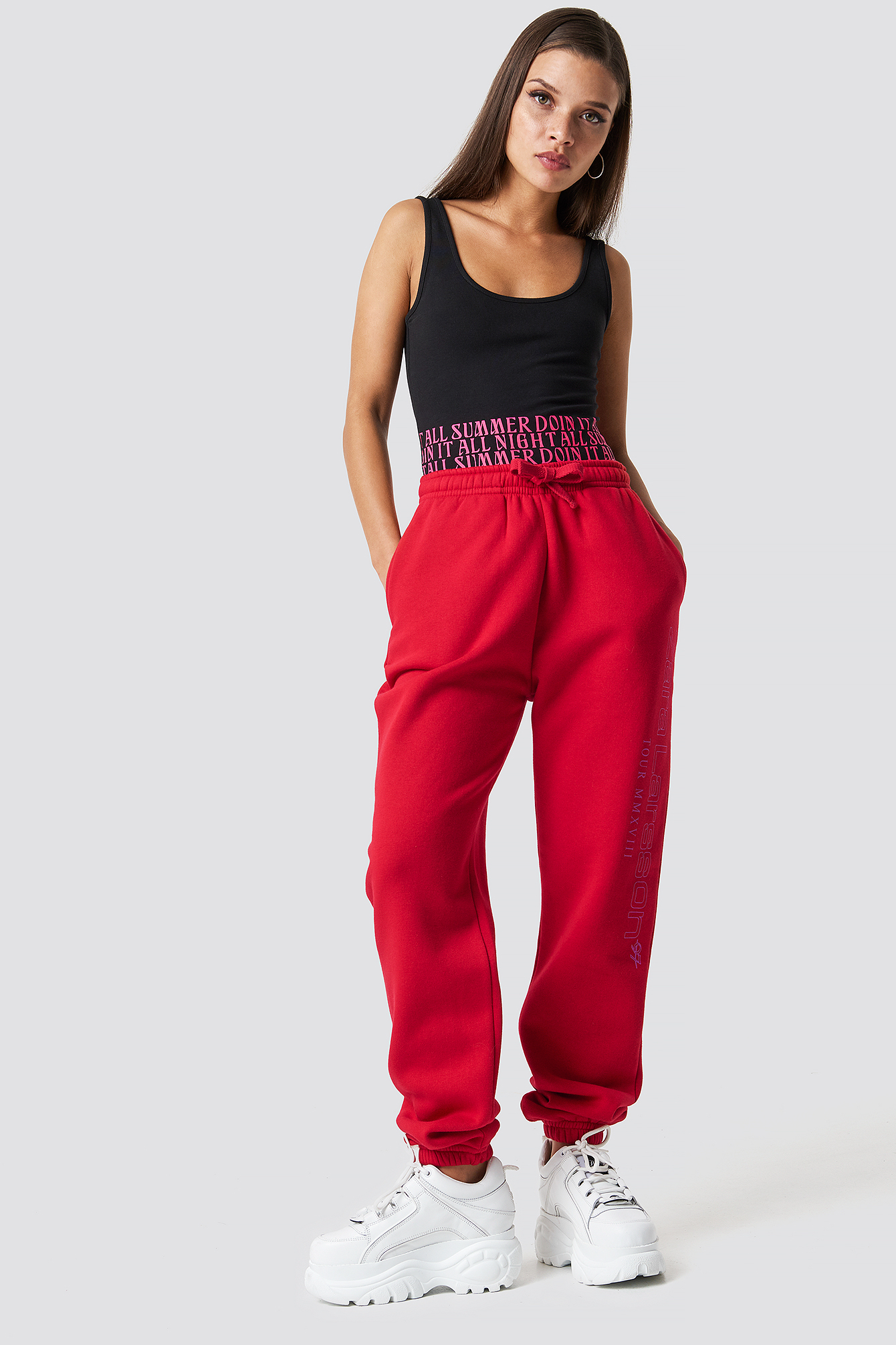 zara larsson -  Unisex Sweatpants - Red