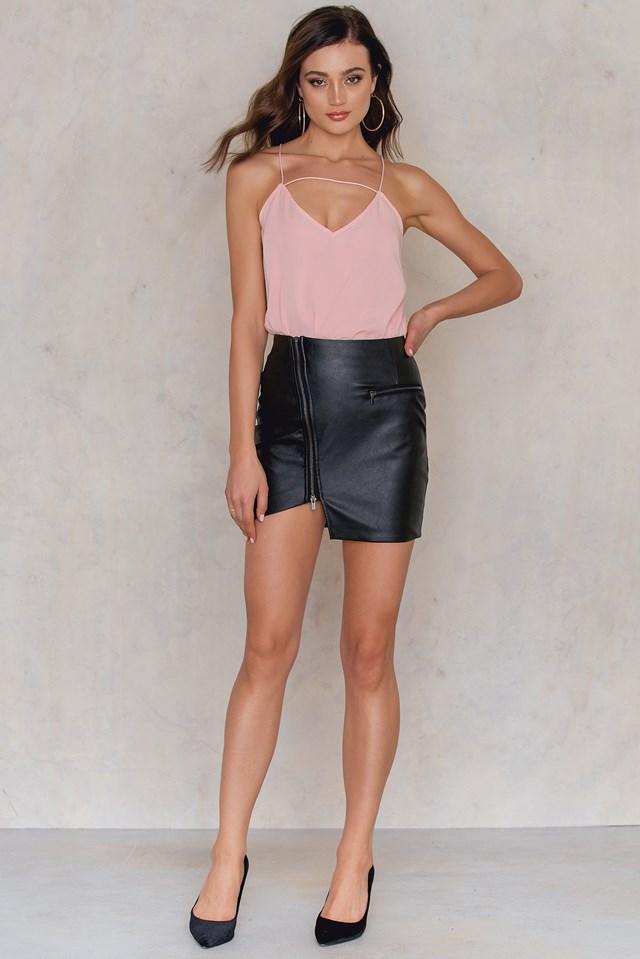 Nala PU Skirt Black