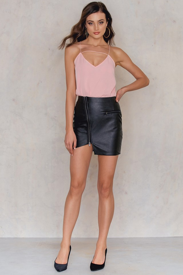 Silk Cami Tank Top Dusty Pink