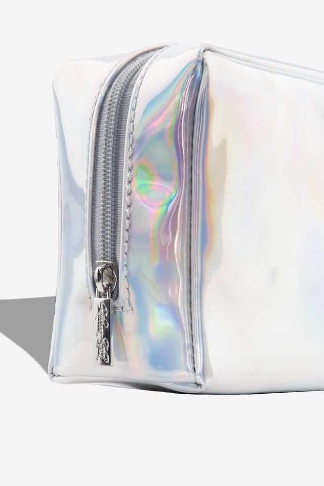 Metallic Makeup Bag Holographic