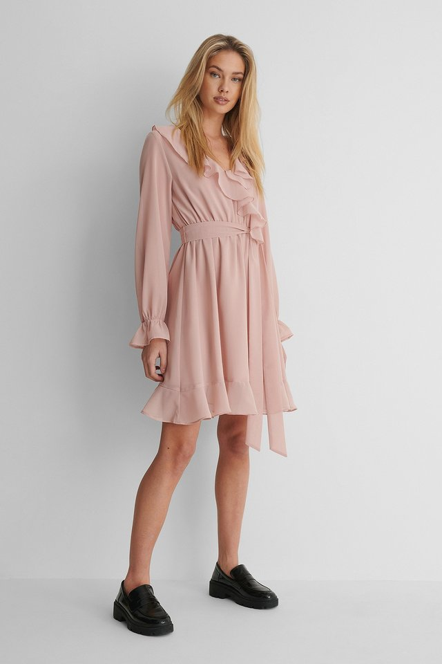Chiffon Mini Dress.