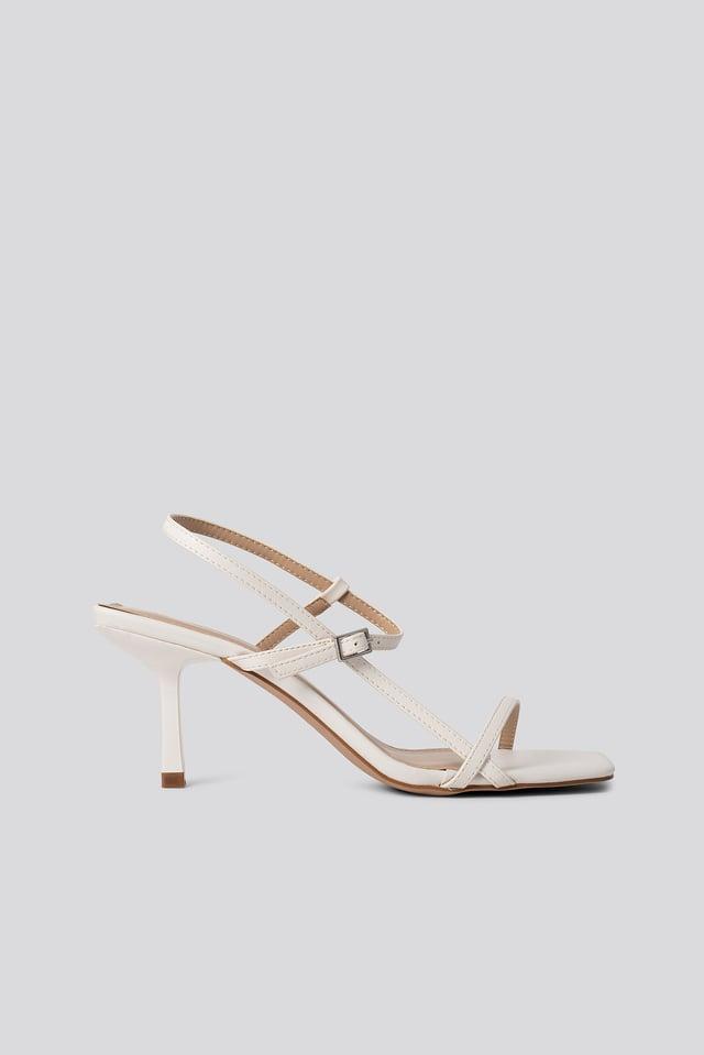 Sandaalit White PU