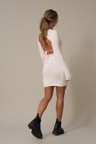 Pink Open Back Detail Dress