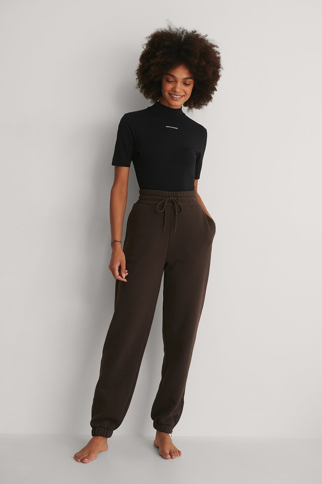 Calvin Klein Micro Branding Stretch Mock Neck Outfit!