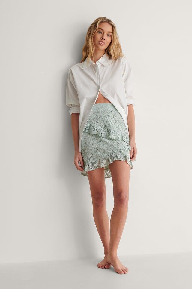 Mini Frill Lace Skirt