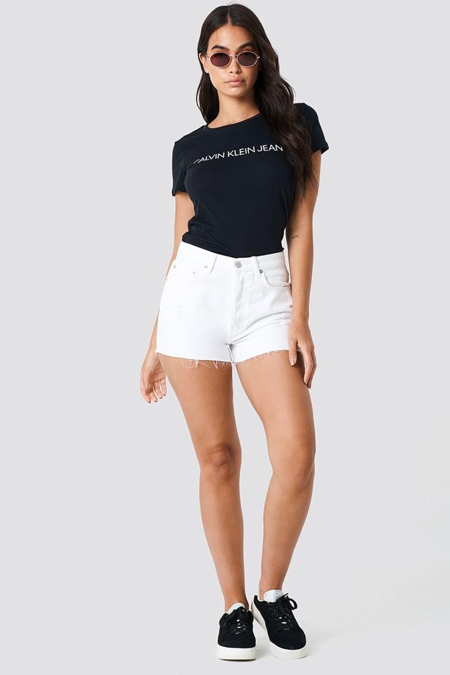 Denim Shorts with T-Shirt