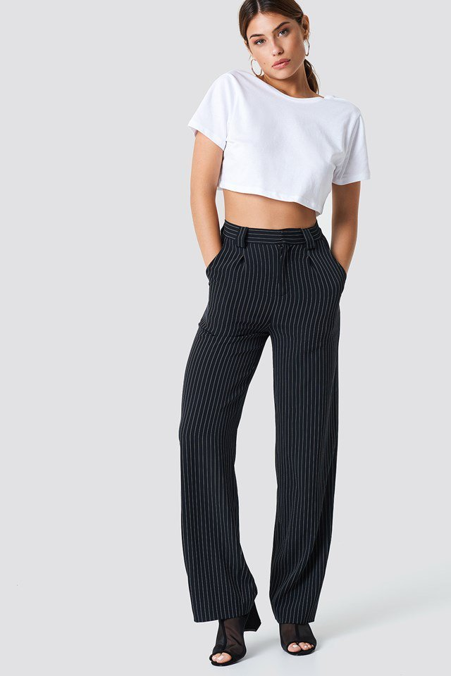 Crop Top with Tailored Pants