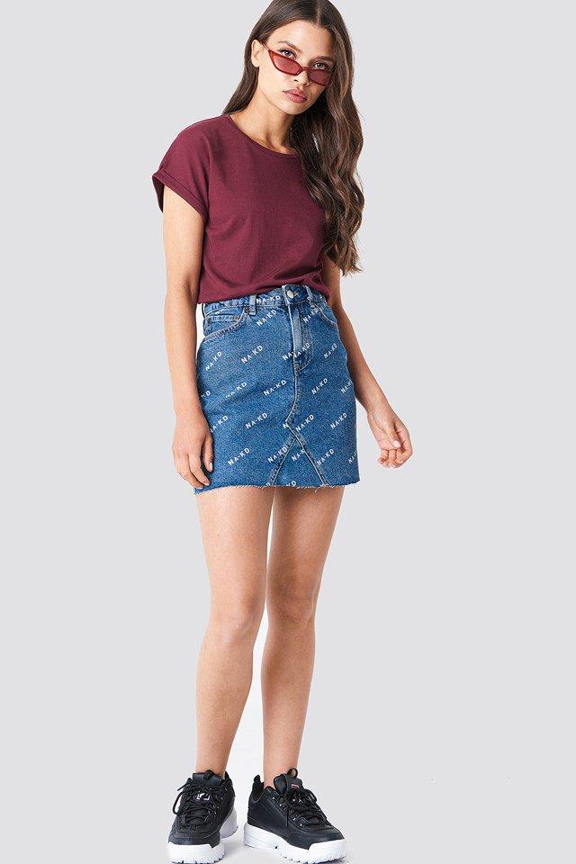 NA-KD Logo Skirt Outfit