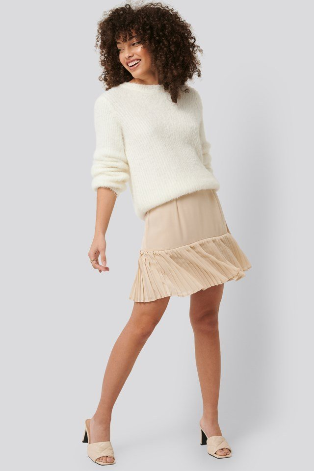 Pleated Bottom Skirt