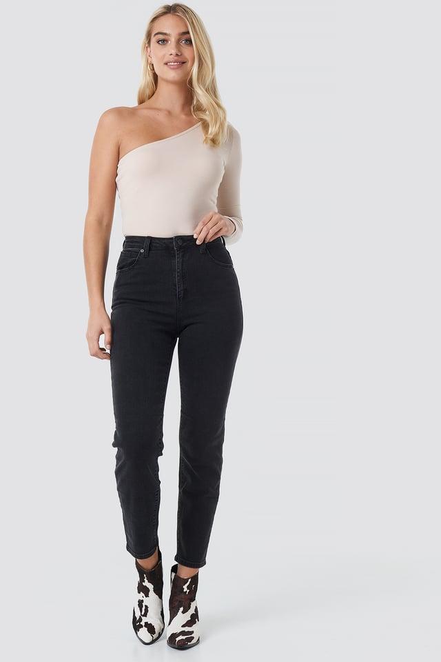 A 94 High Slim Jeans Black