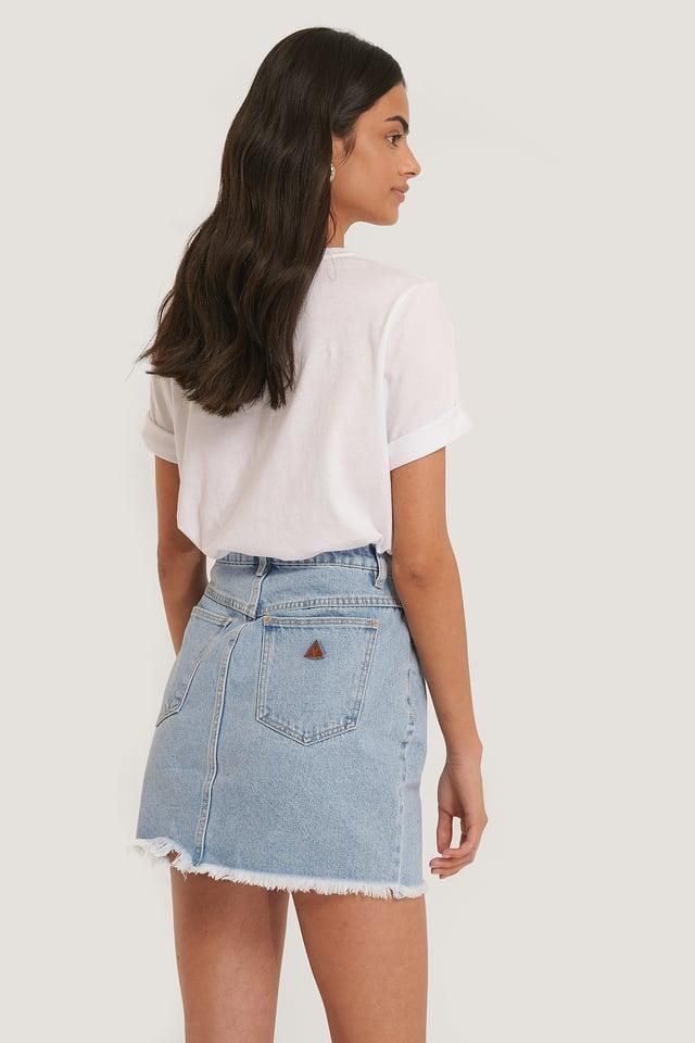 Raw Hem Denim Skirt Esmeralda