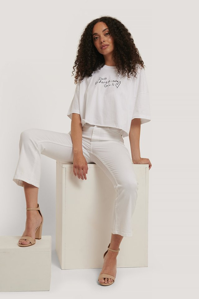 A Oversized Cropped Tee White
