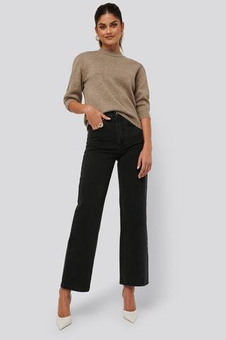 Black Wash Loose Fit Jeans