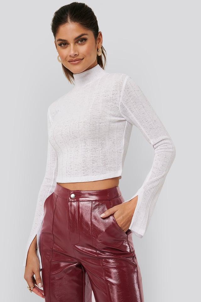Ribbed Slit Sweater AFJ x NA-KD