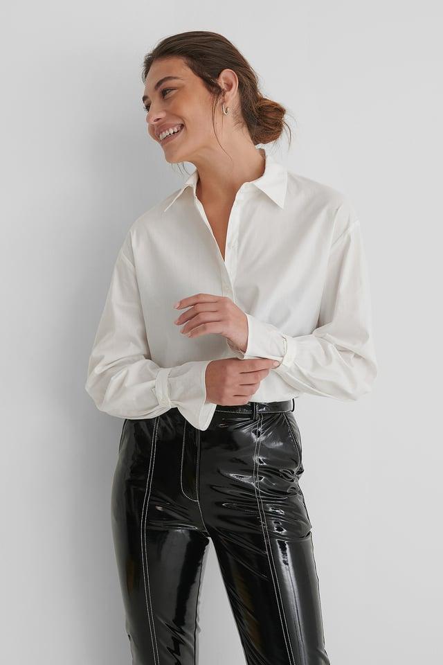 Orgánica Camisa De Algodón Clásica White