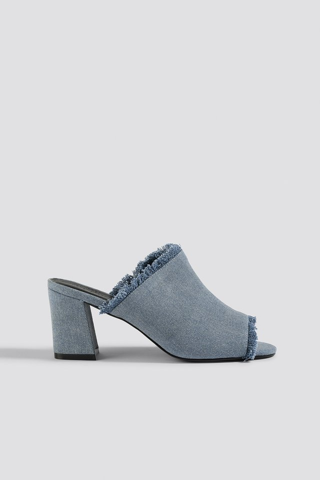 Denim Mule Mid Blue