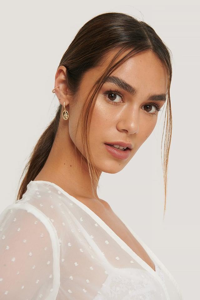 Earrings Set Gold