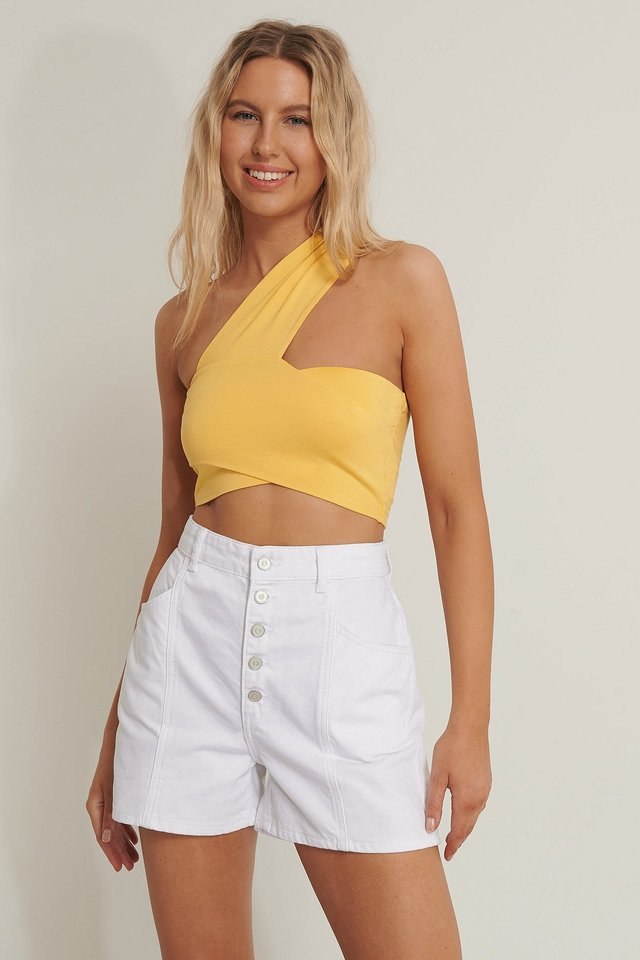 Wrapped Crop Top Yellow