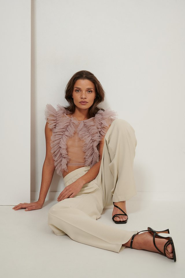 Dusty Pink Tulle Blouse