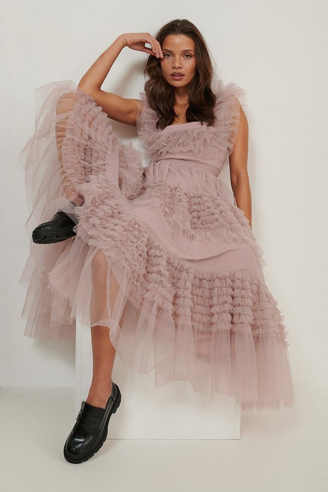 Dusty Pink Tulle Dress