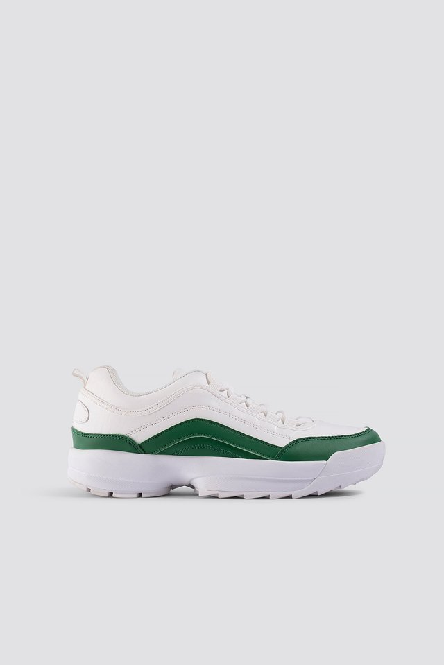 Contrast Sneaker White/green