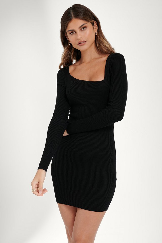 Black Asymmetrisches Kleid