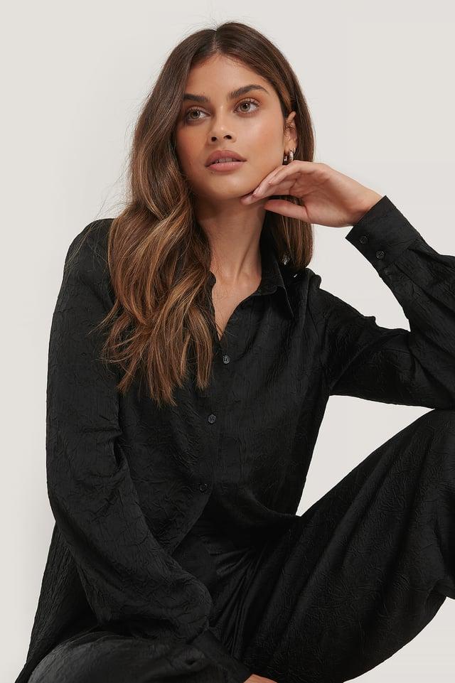 Crinkled Shirt Black